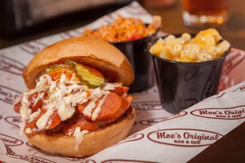 Moes Hot Links Sandwich Meal